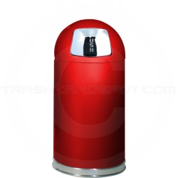 "Rubbermaid / United Receptacle R1530E Econo Line Bullet Trash Can - 12 Gallon Capacity - 15"" Dia. x 30"" H - Red in Color"
