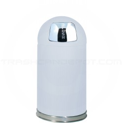 "Rubbermaid / United Receptacle R1530E Econo Line Bullet Trash Can - 12 Gallon Capacity - 15"" Dia. x 30"" H - White in Color"