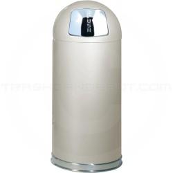 "Rubbermaid / United Receptacle R1536E Econo Line Bullet Trash Can - 15 Gallon Capacity - 15"" Dia. x 36"" H - Almond in Color"