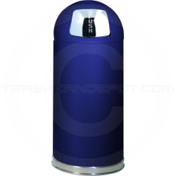 "Rubbermaid / United Receptacle R1536E Econo Line Bullet Trash Can - 15 Gallon Capacity - 15"" Dia. x 36"" H - Cobalt Blue in Color"