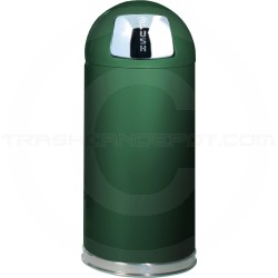 """Rubbermaid / United Receptacle R1536E Econo Line Bullet Trash Can - 15 Gallon Capacity - 15"""" Dia. x 36"""" H - Spruce Green in Color"""