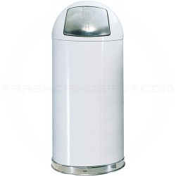 """Rubbermaid R1842E Econo Line Bullet Trash Can - 21 Gallon Capacity - 18"""" Dia. x 42"""" H - White in Color Only"""