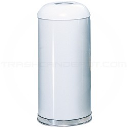 "Rubbermaid FGR32EGLWH Econo Line Open Dome Top Waste Receptacle - 15 Gallon Capacity - 15"" Dia. x 32"" H - White in Color"