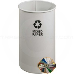 """Glaro RO1321SN RecyclePro Recycling Wastebasket - 18 Gallon Capacity - 14"""" Dia. x 27"""" H - Sand in Color"""