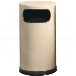 "Rubbermaid / United Receptacle SO16E Econo Line Waste Receptacle - 12 Gallon Capacity - 15"" Dia. x 28"" H - Almond Only"