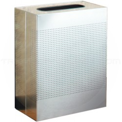 """Rubbermaid SR18SS Rectangular Designer Line Silhouette Open Top Trash Can - 40 Gallon Capacity -  24"""" W x 30"""" H x 12 1/2"""" Dp. - Stainless Steel in Color"""