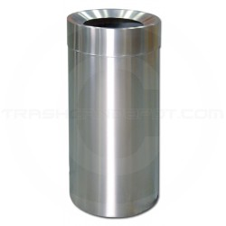 """Imprezza SSFT26 Funnel Top Garbage Can - 26 Gallon Capacity - 15 7/8"""" Dia. x 32 1/8"""" H - Stainless Steel"""