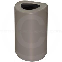 """Imprezza TGOT35 Curved Open Top Container - 30 Gallon Capacity - 20"""" Dia. x 33 1/2"""" H - Titanium Gray in Color"""