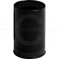 "Rubbermaid / United Receptacle UB1900E Econo Line Executive Wastebasket - 5 Gallon Capacity - 10"" Dia. x 15"" H - Black in Color"