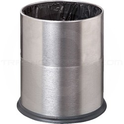 """Imprezza WBWSSS2 Concealed Waste Bag Wastebasket - 3.5 Gallon Capacity - 9.5"""" Dia. x 12.5"""" H - Stainless Steel"""