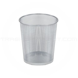 """Rubbermaid FGWMB20SLV Concept Collection Round Mesh Wastebasket - 11 1/2"""" Dia. x 14"""" H - Silver in Color - Carton of 6"""