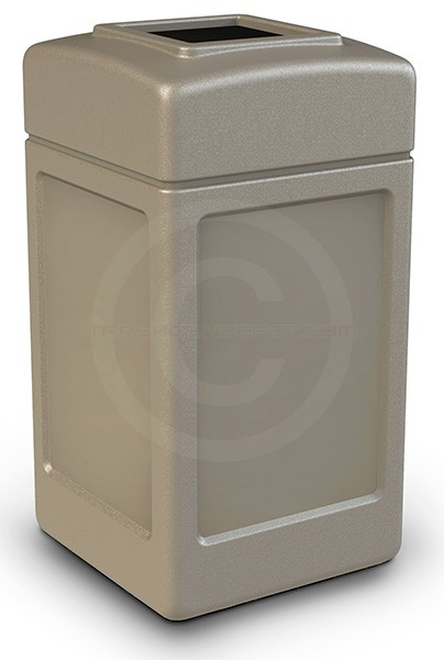 Commercial Zone 732102 Square Open Top Trash Can 42