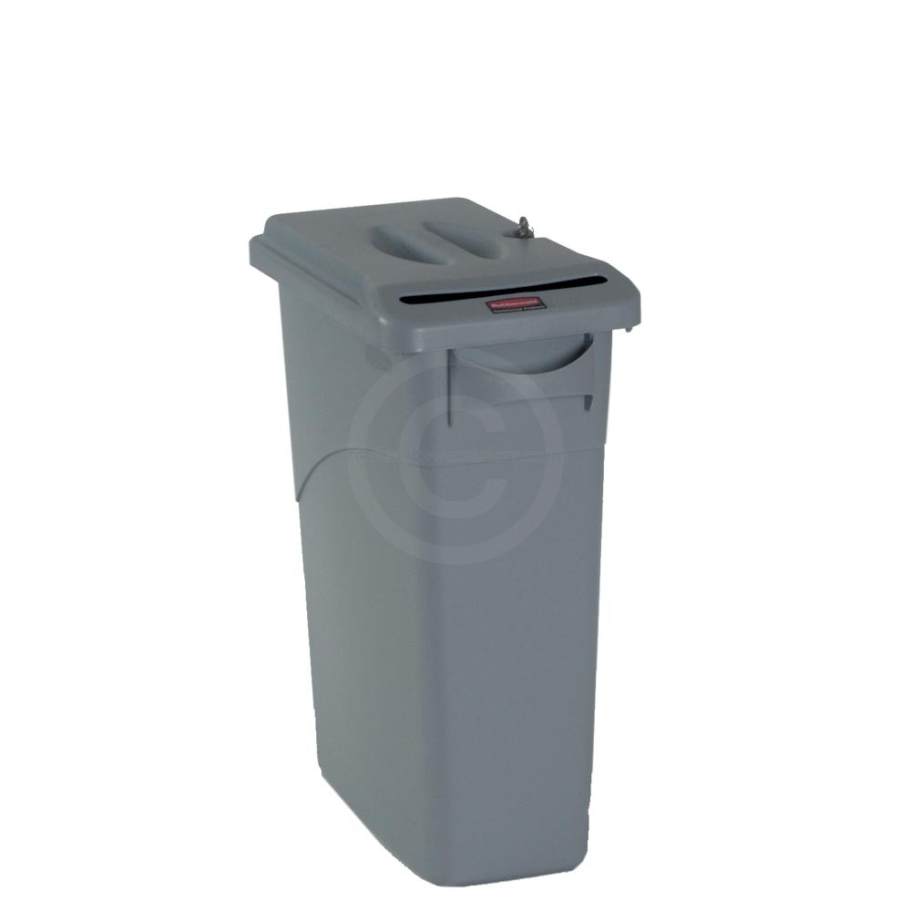 rubbermaid fg9w2500lgray slim jim confidential document With rubbermaid slim jim confidential document container