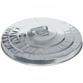 "Witt Industries 10GPL Light Duty Pregalvanized Metal Trash Can Lid - 16"" Dia. x 3"" H"