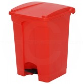 "Continental 12RD Step On Container - 12 Gallon Capacity - 16 1/4"" L x 15 3/4"" W x 23 3/4"" H - Red in Color"