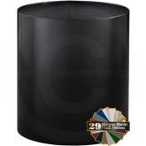 """Glaro 1318BK Open Top Wastebasket - 12 Gallon Capacity - 14"""" Dia. x 18"""" H - Black in Color"""