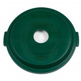 """Rubbermaid 1788377 BRUTE Bottle/Can Recycling Top for 32 Gallon Brute Containers - 22 1/4"""" Dia. x 2 3/4"""" H - Dark Green in Color"""