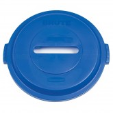 """Rubbermaid 1788378 BRUTE Paper Recycling Top for 32 Gallon Brute Containers - 22 1/4"""" Dia. x 2 3/4"""" H - Blue in Color"""