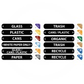 Rubbermaid 1792975 Recycle Label Kit - Kit includes 11 color-coded symbol labels