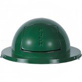 "Rubbermaid / United Receptacle 2030 Drum Top - Fits 30 Gallon Drums - 20"" Dia. - Empire Green in Color"