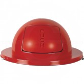 "Rubbermaid / United Receptacle 1855 Drum Top - Fits 55 Gallon Drums - 24 1/2"" Dia. - Red in Color"