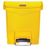 Rubbermaid 1883572 Slim Jim Plastic Front Step-On Receptacle - 4 Gallon Capacity - Yellow in Color
