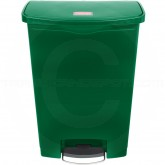 Rubbermaid 1883588 Slim Jim Plastic Front Step-On Receptacle - 24 Gallon Capacity - Green in Color