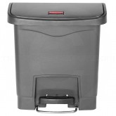 Rubbermaid 1883599 Slim Jim Plastic Front Step-On Receptacle - 4 Gallon Capacity - Gray in Color