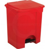 "Continental 18RD Step On Container - 18 Gallon Capacity - 16"" L x 19 1/2"" W x 24"" H - Red in Color"
