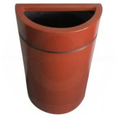 "Witt Industries 1PH-2432T Phoenix-Half-Round Fiberglass Waste Receptacle - 20 Gallon Capacity - 24"" L x 24"" W x 32"" H - Your choice of color"