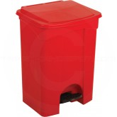 "Continental 23RD Step On Container - 23 Gallon Capacity - 16"" L x 19 1/2"" W x 30 1/2"" H - Red in Color"