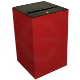 "Witt Industries 24MSR-SC Confidential Waste Receptacle  - 24 Gallon Capacity - 15"" Sq. x 24"" H - Scarlet Red"