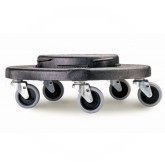 Rubbermaid FG264000BLA BRUTE Dolly for 2620, 2632, 2643, 2655 Brute Containers - Black in Color