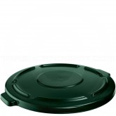 "Rubbermaid FG264560DGRN Round Brute Lid for 44 Gallon Brute Containers - 24 1/2"" Dia. x 1 1/2"" H - Dark Green in Color"