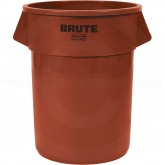 "Rubbermaid FG265500RED Round Brute Trash Can - 55 Gallon Capacity - 26 1/2"" Dia. x 33"" H - Red in Color"