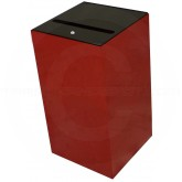 "Witt Industries 28MSR-SC Confidential Waste Receptacle  - 28 Gallon Capacity - 15"" Sq. x 28"" H - Scarlet Red in Color"
