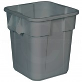 "Rubbermaid FG352600GRAY Square BRUTE Trash Can without Lid - 28 Gallon Capacity - 21 1/2"" Sq. x 22 1/2"" H - Gray in Color"