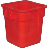 "Rubbermaid FG352600RED Square BRUTE Trash Can without Lid - 28 Gallon Capacity - 21 1/2"" Sq. x 22 1/2"" H - Red in Color"