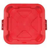 "Rubbermaid FG352900RED Snap-Lock® Lid for 3526 Square Brute Container - 22"" Sq. x 2 1/8"" H - Red in Color"