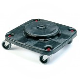 Rubbermaid FG353000BLA Square BRUTE Dolly for 3526, 3536 Containers - Black in Color