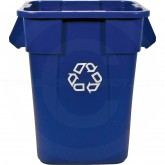 "Rubbermaid FG353673BLUE Square BRUTE Recycling Container without Lid - 40 Gallon Capacity - 23 1/2"" Sq. x 28 3/4"" H - Blue in Color"