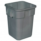 "Rubbermaid FG353600GRAY Square BRUTE Trash Can without Lid - 40 Gallon Capacity - 23 1/2"" Sq. x 28 3/4"" H - Gray in Color"