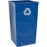 "Rubbermaid FG395973BLUE Untouchable Square Recycling Container - 50 Gallon Capacity - 19 1/2"" Sq. x 34 1/4"" H - Blue in Color"