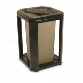 """Rubbermaid 3966 Landmark Series Classic Container with Ash/Trash Frame and 3569 Rigid Liner - 20 Gallon Capacity - 21"""" Sq. x 30 1/2"""" H"""