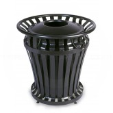 "Rubbermaid 4020 WeatherGard Series Trash Can - 20 Gallon Capacity - 27 1/4"" Dia. x 27 1/2"" H - Black in Color"