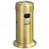 "Glaro 4405BE Deluxe Table Top Smokers Post - 3 1/2"" Dia. x 8"" H - Satin Brass"