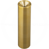 "Glaro 523BE Atlantis WasteMaster Funnel Cover Urn - 5"" Dia. x 23"" H - All-Weather Satin Brass"