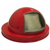 "Witt Industries 5555RD Dome Top Lid - 23 1/2"" Dia. x 11 5/8"" H - Red in Color"