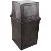 "Continental 5735BN King Kan - 35 Gallon Capacity - 20"" Sq. x 39 3/4"" H - Brown in Color"