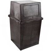 "Continental 5750BN King Kan - 50 Gallon Capacity - 23 3/4 Sq. x 40 1/2"" H - Brown in Color"